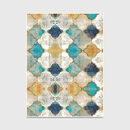 LANDENG Tapis Style Maroc Vintage, Tapis Design à Carreaux ...