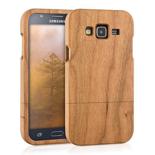 4 opinioni per kwmobile Custodia in legno per Samsung Galaxy J5 (2015) Cover legno naturale
