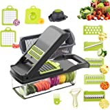 Vegetable Chopper Mandoline Slicer Cutter Chopper and Grater, Adjustable Chopper Vegetable Cutter Onion Potato Chip French Fr
