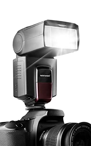Neewer® TT560 Flash Speedlite for Canon Nikon Sony Panasonic Olympus Fujifilm Pentax Sigma Minolta Leica and Other SLR Digital SLR Film SLR Cameras and Digital Cameras with single-contact Hot Shoe