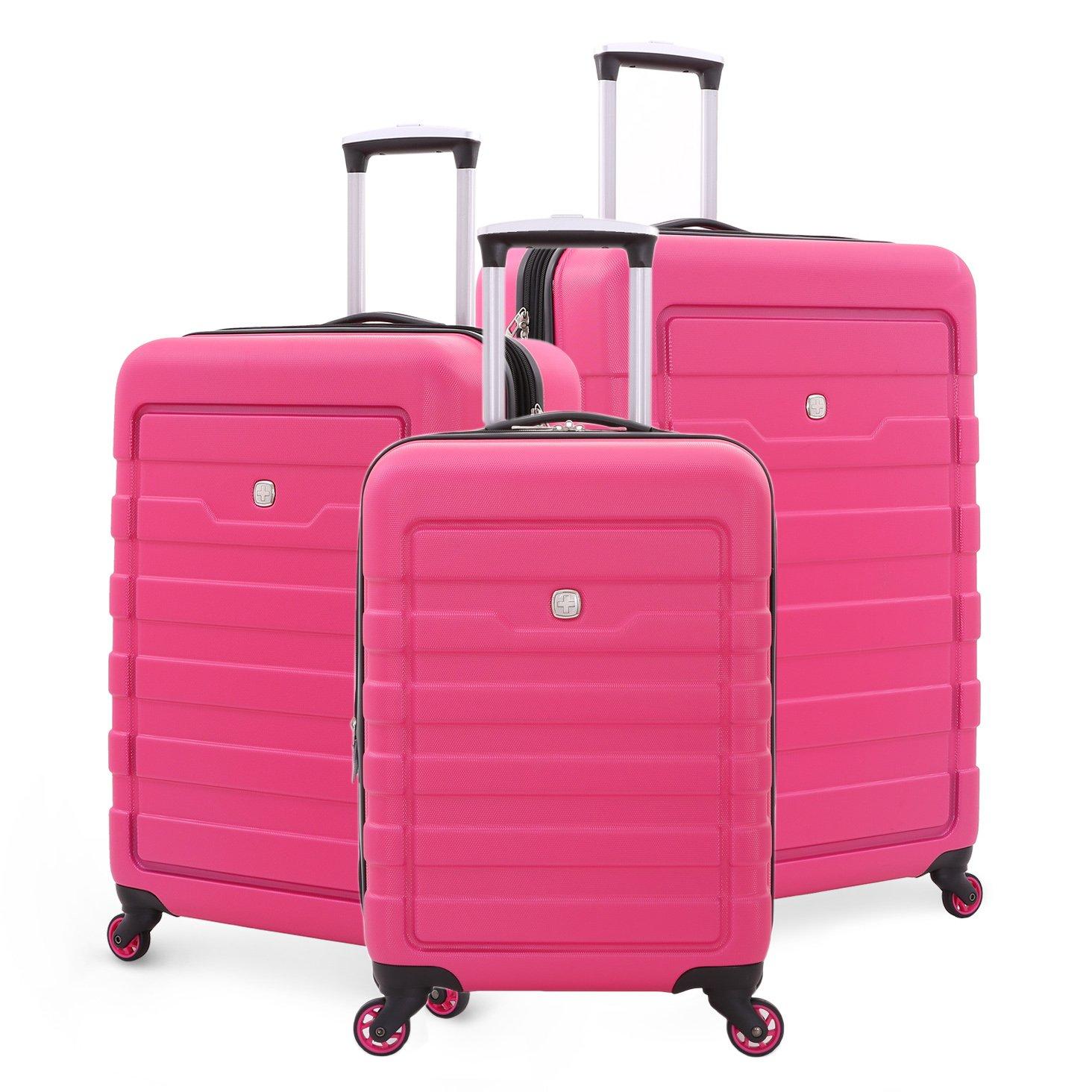SwissGear Hardcase Suitcase Spinner Set (Pink) by SwissGear