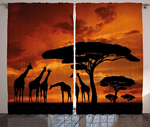 Ambesonne Africa Curtain