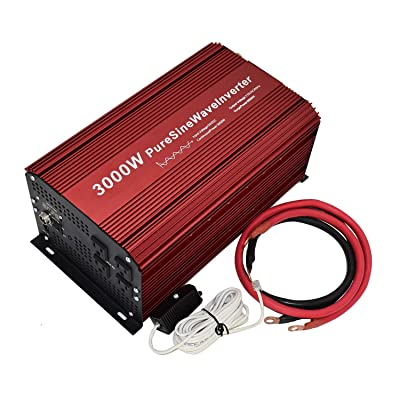 3000W Output Power Inverter with Four sockets Output, Pure sine Wave, Input DC 24V Output 110V 60Hz Ideal for 24V Solar System.: Car Electronics