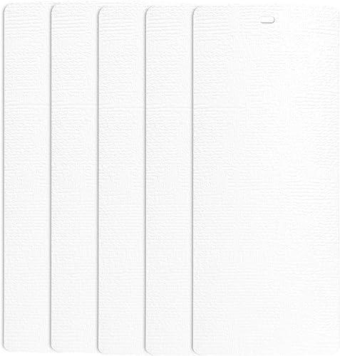 DALIX Chaparral Vertical Blinds Replacement Slats Door White 98.5 Window 5 Pack