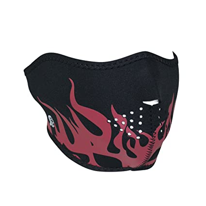 Zanheadgear WNFM229RH Neoprene Half Face Mask, Red Flames