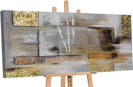Ys Art Premium Tableau Peinture Acrylique D Or L Abstraction