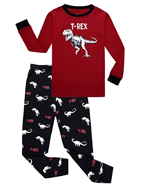 3d4235b76714 Amazon.com  KikizYe Little Big Boys Long Sleeve Pajama Sets 100 ...