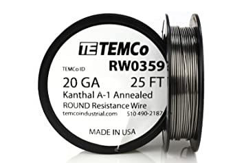 Temco kanthal a1 wire 20 gauge 25 ft resistance awg a 1 ga temco kanthal a1 wire 20 gauge 25 ft resistance awg a 1 ga greentooth Gallery