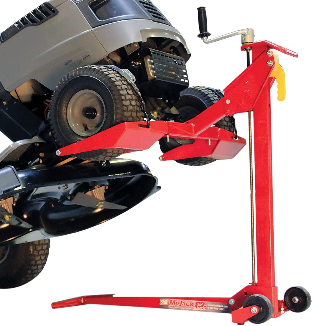 MoJack EZ Max – Residential Riding Lawn Mower Lift, 450lb Lifting Capacity, Fits Most Residential Ztr Mowers, Folds Flat For Easy Storage, Use for Mower Maintenance Or Repair