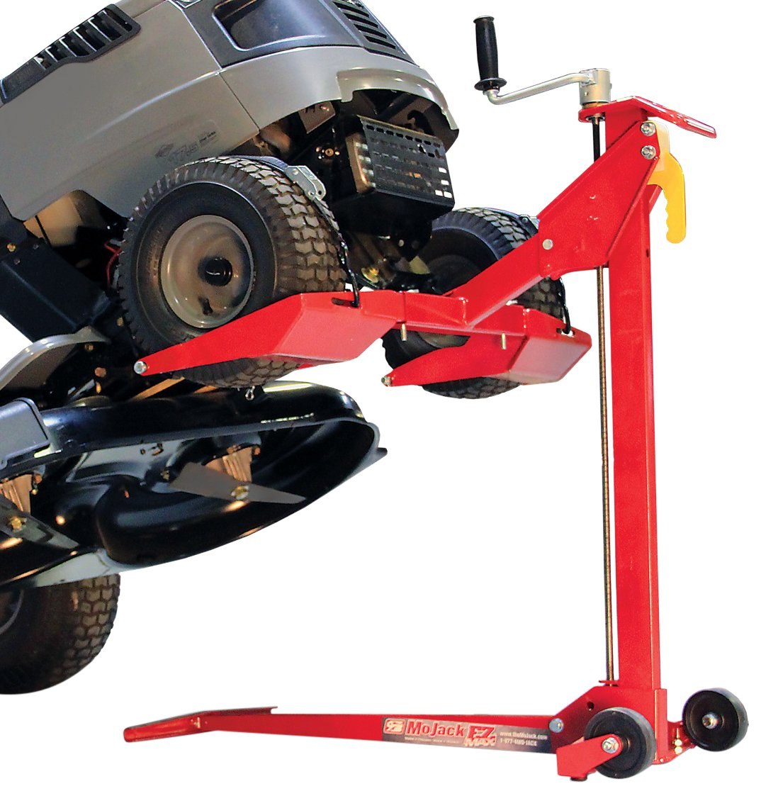 MoJack EZ Max - Residential Riding Lawn Mower Lift, 450lb Lifting Capacity, Fits Most Residential & Ztr Mowers, Folds Flat For Easy Storage, Use for Mower Maintenance Or Repair by MoJack