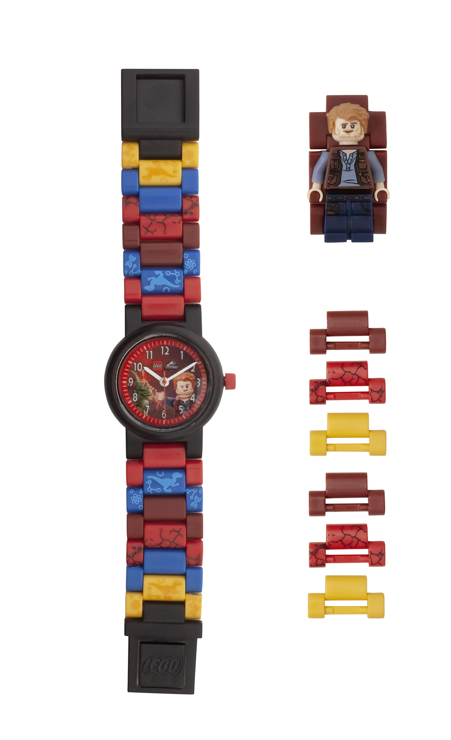 LEGO Watches and Clocks Boy's 'Jurassic World Owen' Quartz Plastic Watch, Color:Red(Model: 8021261)