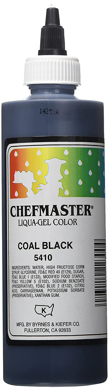 Amazon.com: Chefmaster Liqua-Gel Food Color, 10.5-Ounce, Black ...