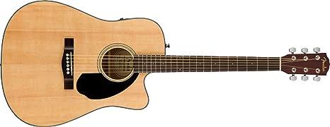 Fender CD-60SCE Dreadnought - Guitarra acústica, color natural ...