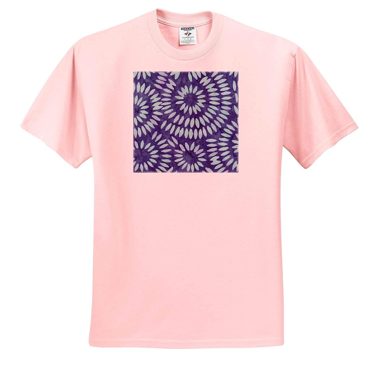 ts/_316242 3dRose Anne Marie Baugh Patterns Bright and Light Blue Petal Image of Batik Adult T-Shirt XL