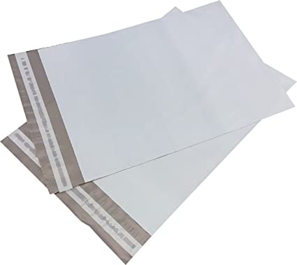 5 EcoSwift Size #4 10 x 13 White Poly Mailers Self Sealing Bulk Packaging Materials Shipping Supplies Envelopes Bags 10 inches by 13 inches