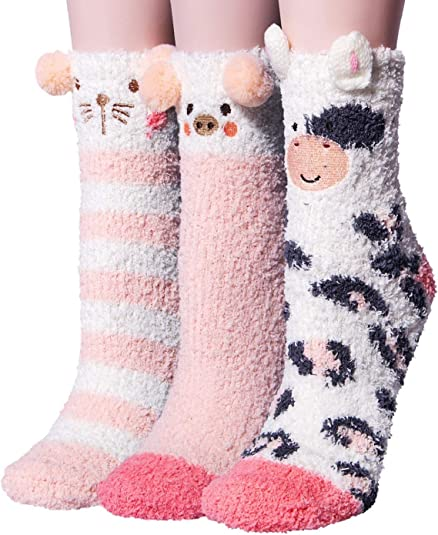 Mystery Socks 3 Pairs Cute Pattern Funny Animal Design Cool Unique Free Shipping