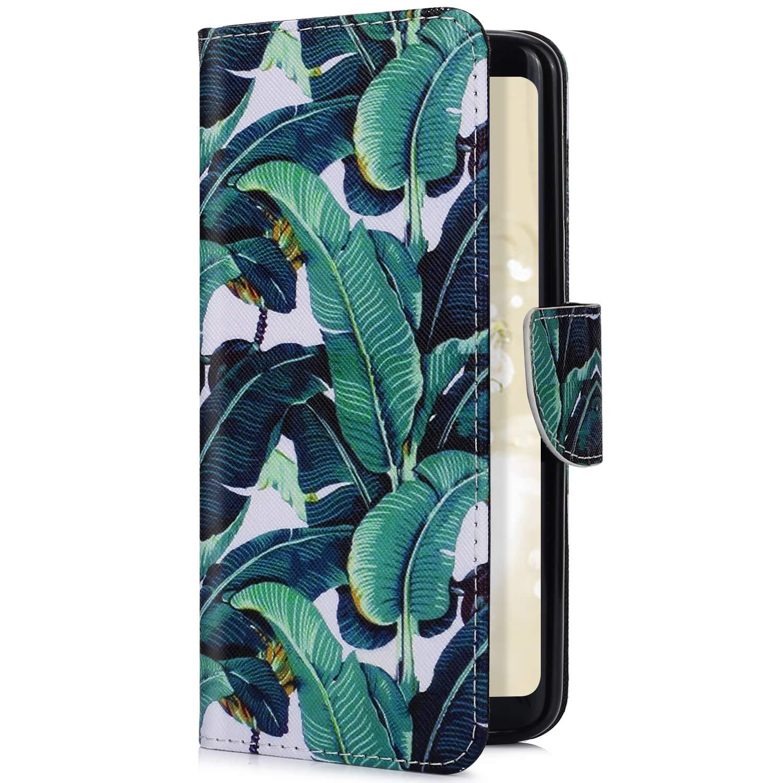Housse de téléphone Sony Xperia XZ3,Uposao Etui Sony Xperia XZ3 Coque PU Pochette Portefeuille Cuir Coque de Protection Stand Housse Magnetique a Rabat 3D effet Motif Peint Premium Coque