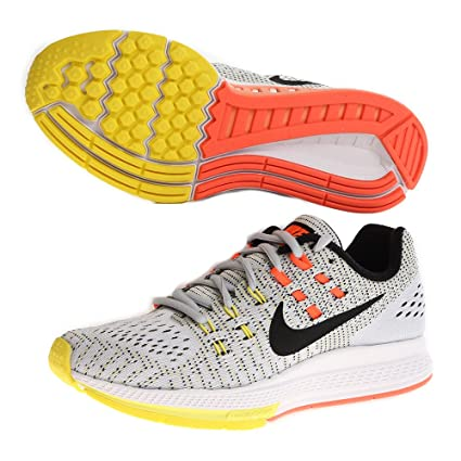 separation shoes b01f9 b9729 Amazon.com  Nike Women s Wmns Air Zoom Structure 19, PURE  PLATINUM BLACK-OPT YELLOW-HYPER ORANGE, 6.5 US  Sports   Outdoors