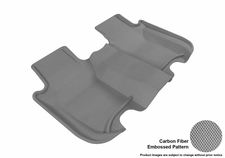 3D MAXpider Complete Set Custom Fit All-Weather Floor Mat for Select Honda Fit Models Gray Kagu Rubber