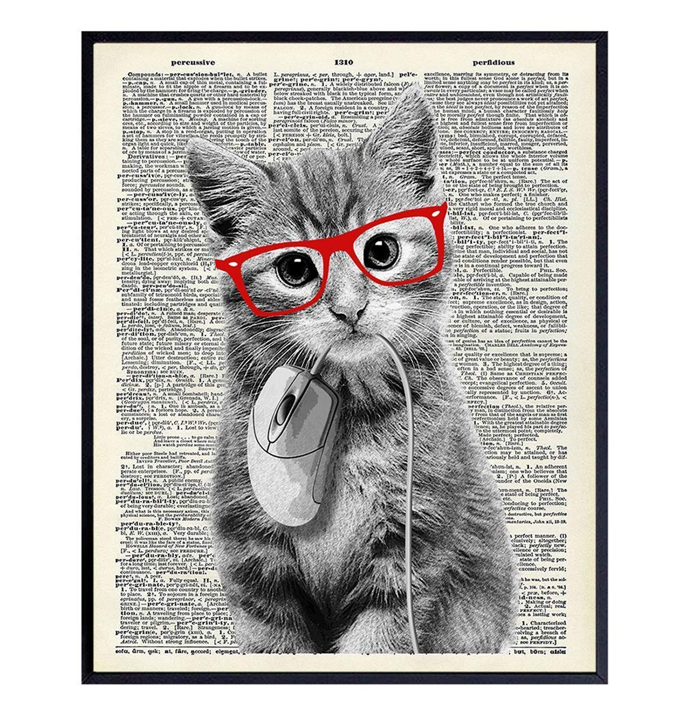 Cat Gift Cat Print Home Is Where The Cat Is 8x10 Wall Art Cat Lover Print Cat Lady Print Cat Lover Cat Art Kitty Print