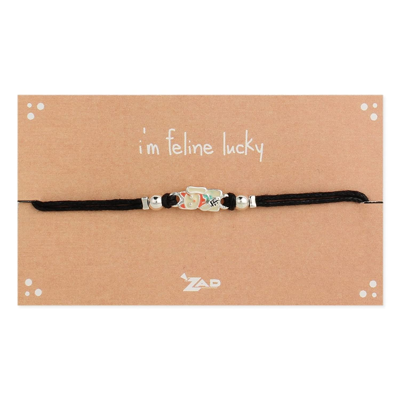I'm Feline Lucky Cat Charm Pull Bracelet