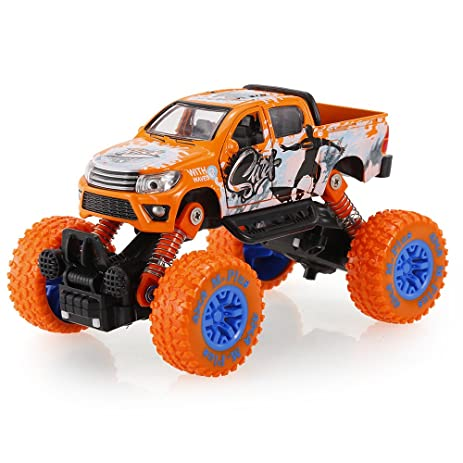 Amazon Com Goolsky Classic Pull Back Car 1 30 Alloy 4wd Big Wheels