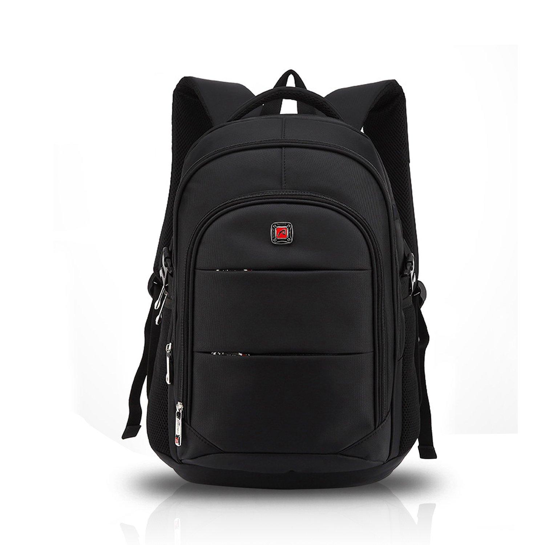 fandareリュックサックバックパックビジネスノートパソコンFits 17インチ旅行カレッジスクールバッグ防水ユニセックスUSBポートポリエステル B01NC2TM8X Black Large