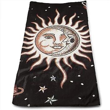 BLDBZQ Toallas de baño Toallas de Cara de Sol y Luna, Muy absorbentes, Toallas Multiusos para Manos Cara Gimnasio y SPA, 30 x 70 cm: Amazon.es: Hogar