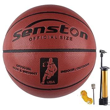 senston Balon Baloncesto Interior/Exterior Balon de Baloncesto Infantil/Adulto/Juventud Unisex,Tamaño 5/6/7