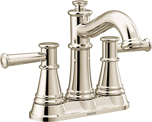 Moen 6401NL Belfield Two-Handle Centerset Bathroom Faucet, Polished Nickel