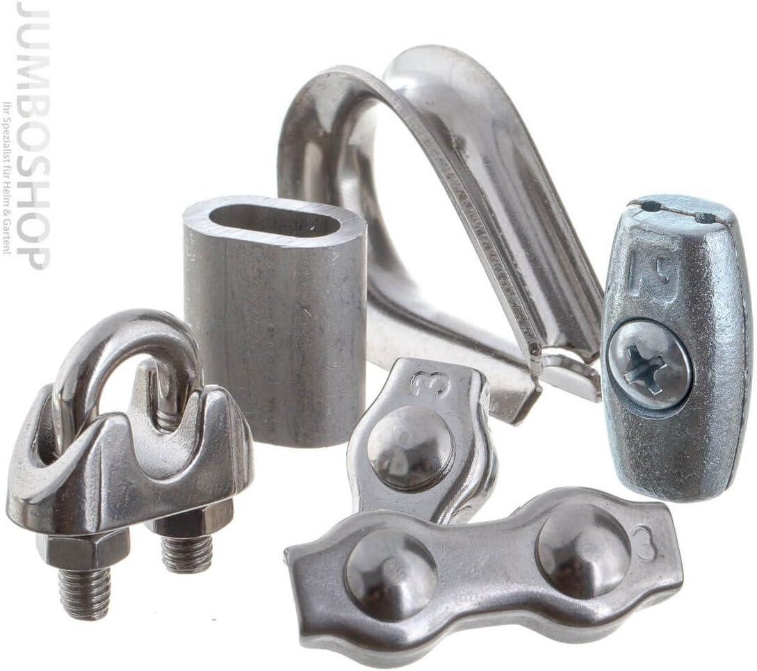 Seilwerk STANKE 25 x Seilklemme B/ügelform aus Edelstahl Inox Gr/ö/ße 8 f/ür 8 mm Drahtseile Rostfrei Seilverbinder