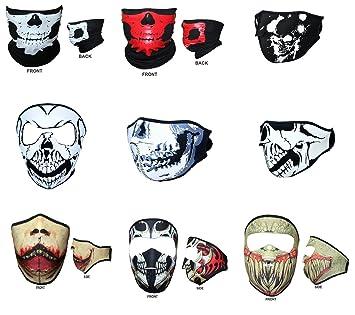 Moto cara máscara de calavera Antipolvo MAXFIVE PERSONA Media cara Motocicleta Cuello Headwear al aire libre