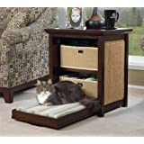 Pet Side Cat Bed End Table