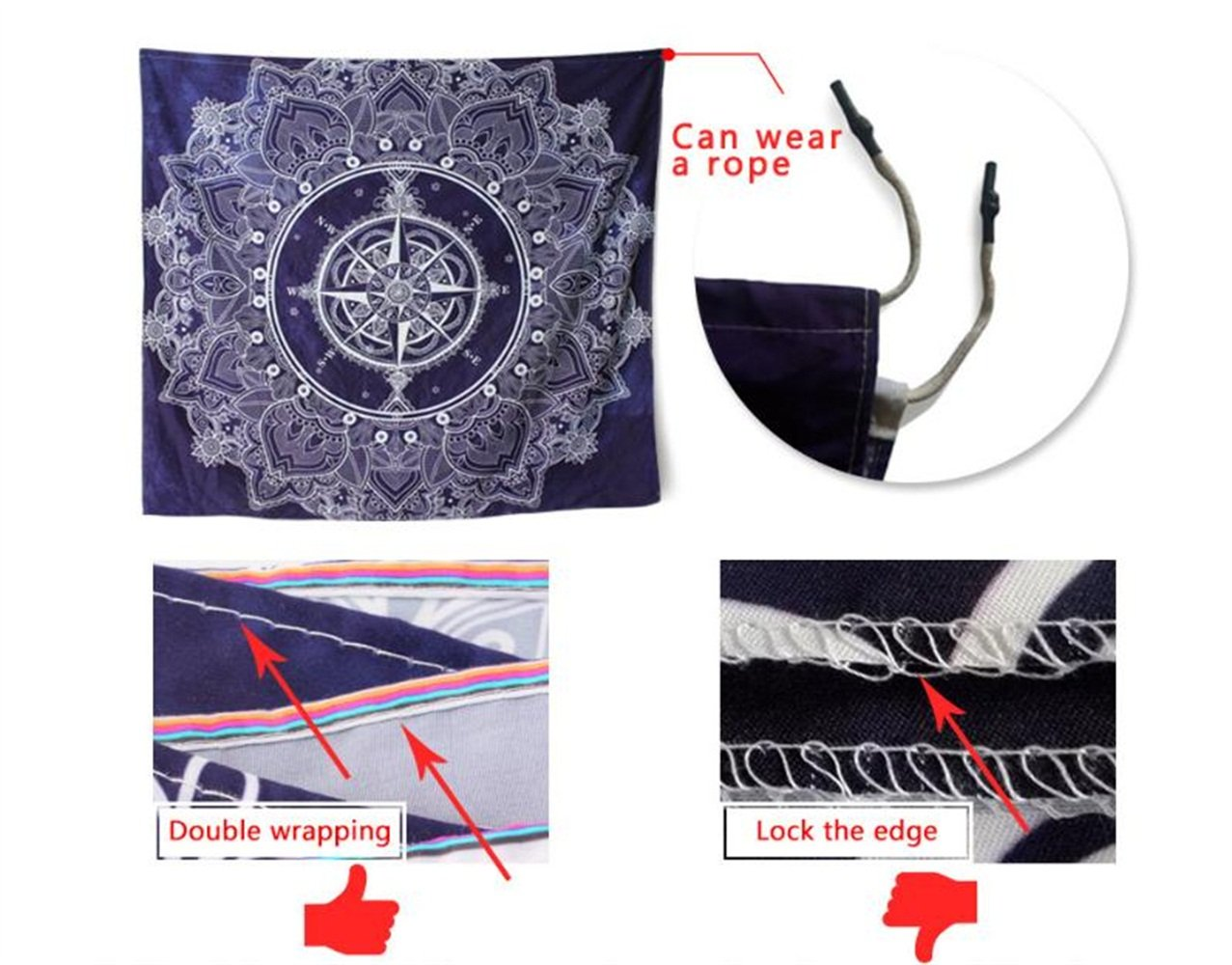 Wall Hangings Beach Towel Blanket Carpet Digital Printing Home Accessories World Map,150/×130Cm Bed Cover Art Tapestry