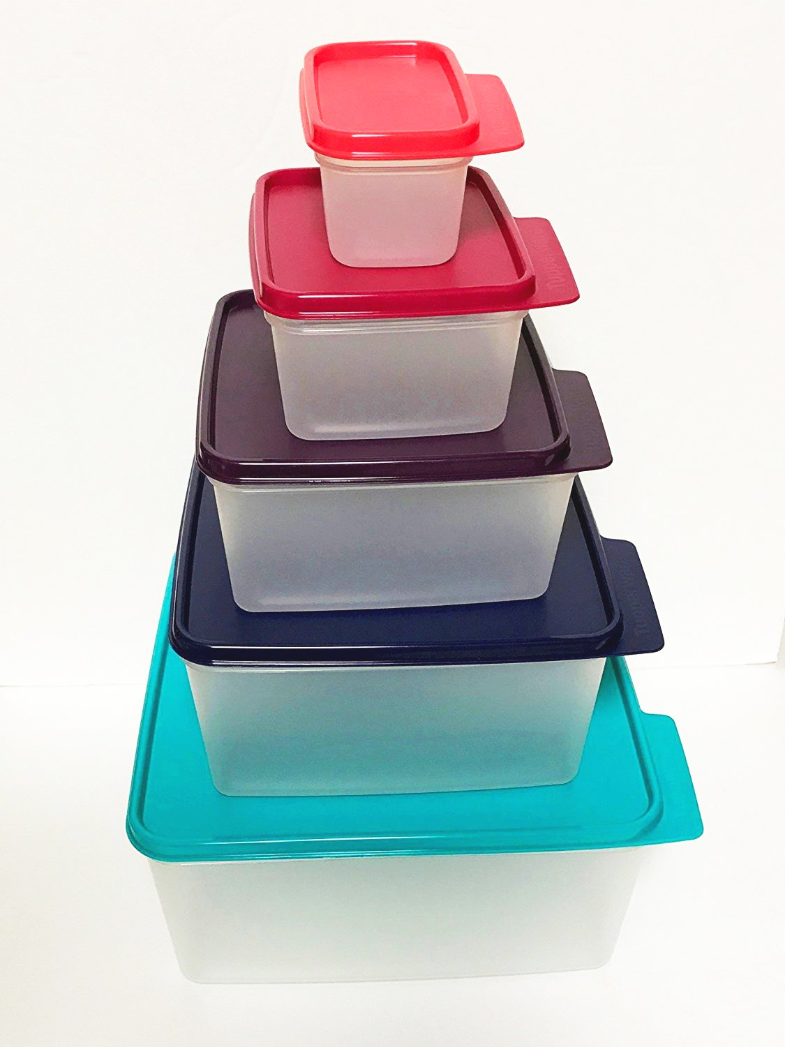 Amazon.com: Tupperware Nesting Stackable Storage Square Containers 5 ...