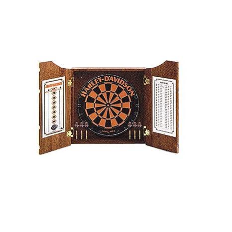 Amazon.com : Harley Davidson Dart Board Cabinet : Dartboard Cabinets :  Sports U0026 Outdoors