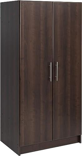 Prepac Elite Wardrobe Cabinet, 32 , Espresso