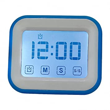 Temporizador de cocina digital con reloj manual de 99 minutos con alarma de 80 dB,