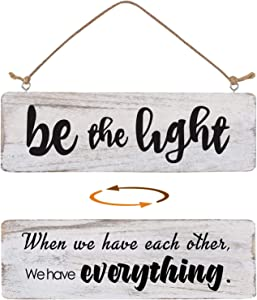 Bedroom Signs Wall Decor Double Sided, Farmhouse Signs for Home Decor Wall, Home Sign Wall Decor Inspirational Rustic Wooden Wall Art Decor Home Decor