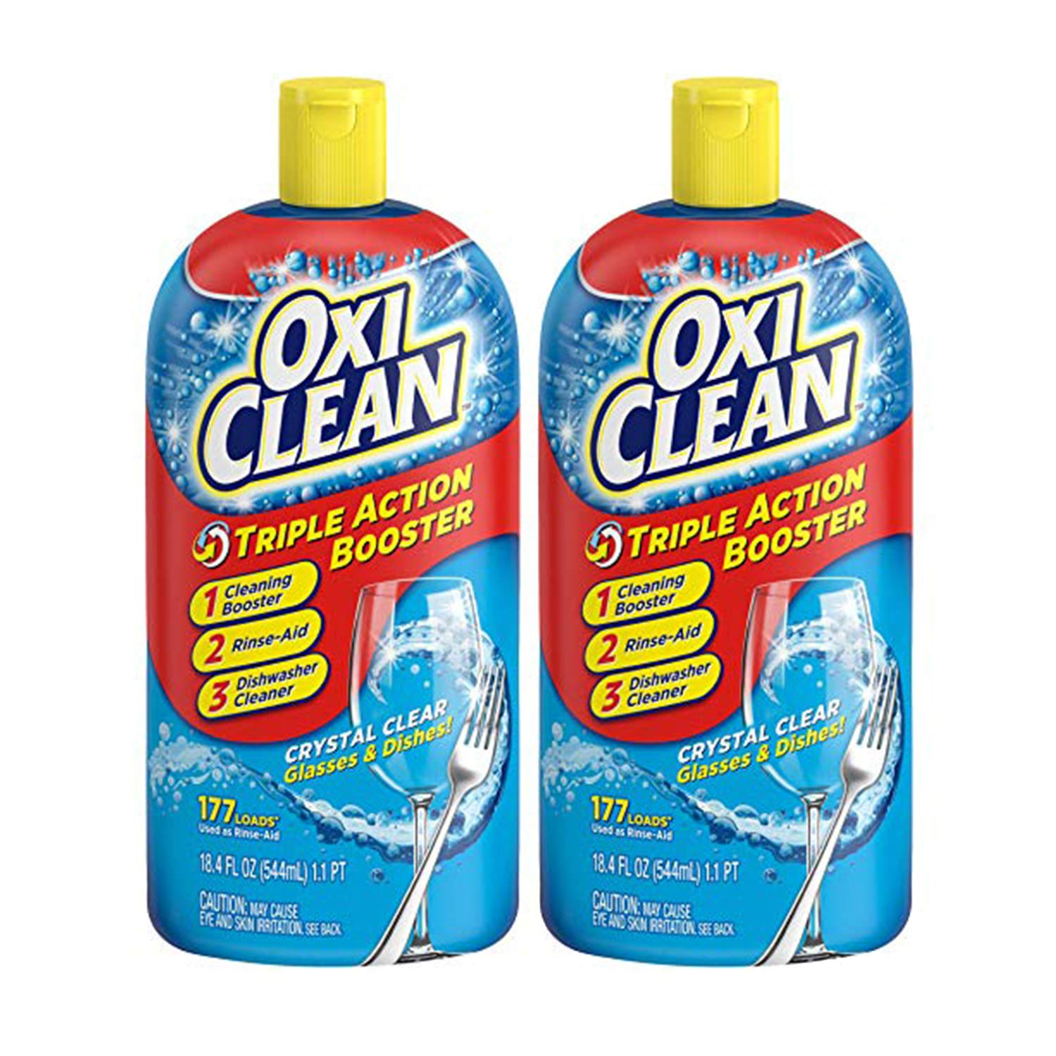 OxiClean Triple Action Dishwashing Booster, 18.4 oz. (Pack of 2)