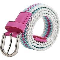 AnJuHoPa Cinturilla elástica Para niños Cintura Elástica para niñas niños, Cinturón de Goma Multicolor para mujeres de 2…