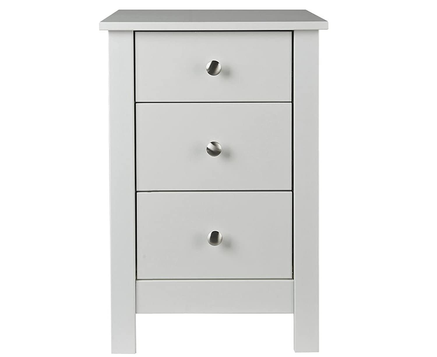 furniture to go shaker bedside with 3 drawers white with painted