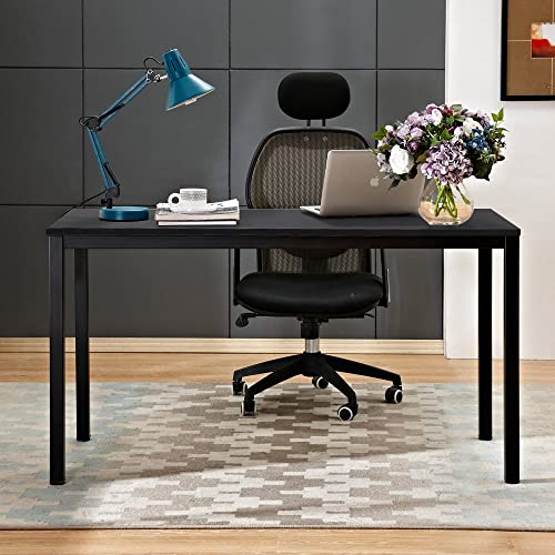 Need Computer Desk 55 inches Large Size Office Desk with BIFMA Certification Computer Table Writing Desks Black Brown, AC3CB-140