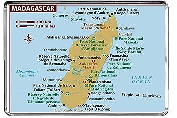 Madagaskar Karte.Cfl M120 Karte Von Madagaskar Kuhlschrankmagnet Madagaskar