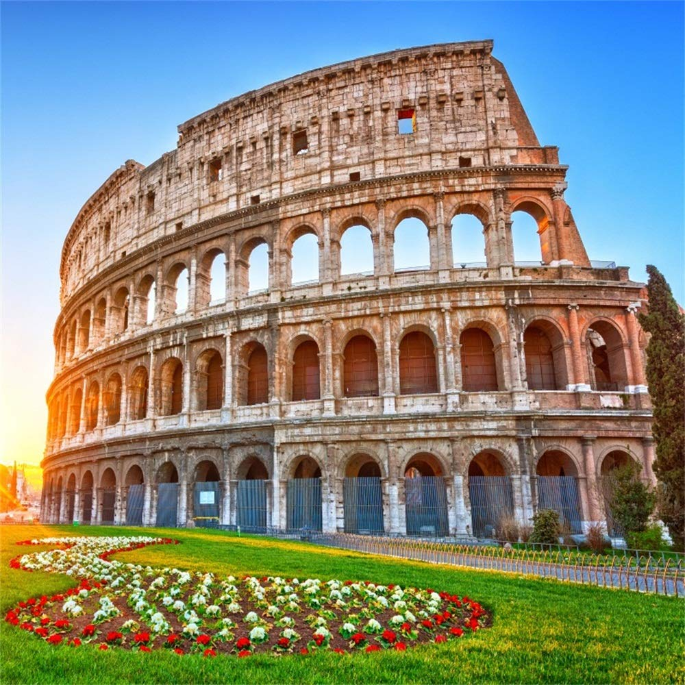 ローマの背景のOFILA Colosseum 6x6フィート 古代ローマの建築 写真 背景 アンフィテアター 歴史的な建物 遺産 古代ルリン 写真 イタリアのシンボル 旅行 撮影用小道具   B07GBXRV2X