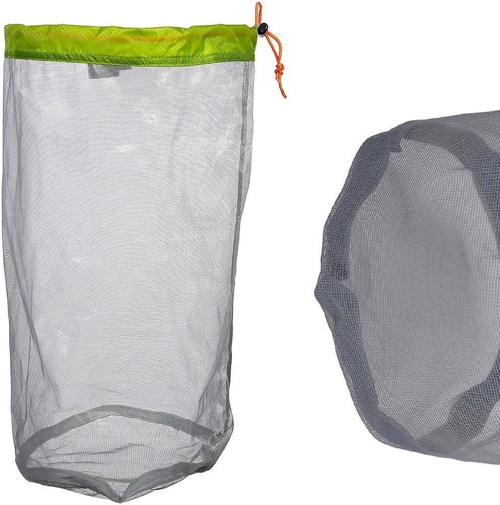 Ultralight Mesh Drawstring Sack Stuff Storage Bag for Outdoor Tavel Camping Hiking Alomejor 1Pc Mesh Storage Bag