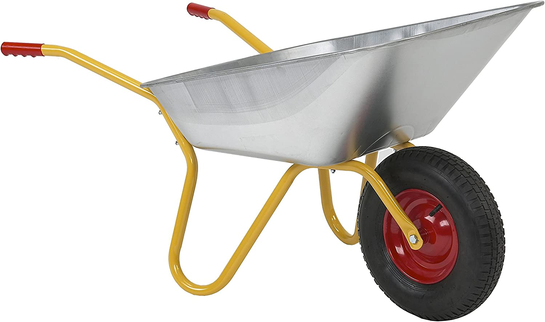 100 Liter Mulde pannensicheres PU Rad Ravendo BD 1002 PUR Schubkarre 150 kg Tragkraft pulverbeschichteter Rahmen