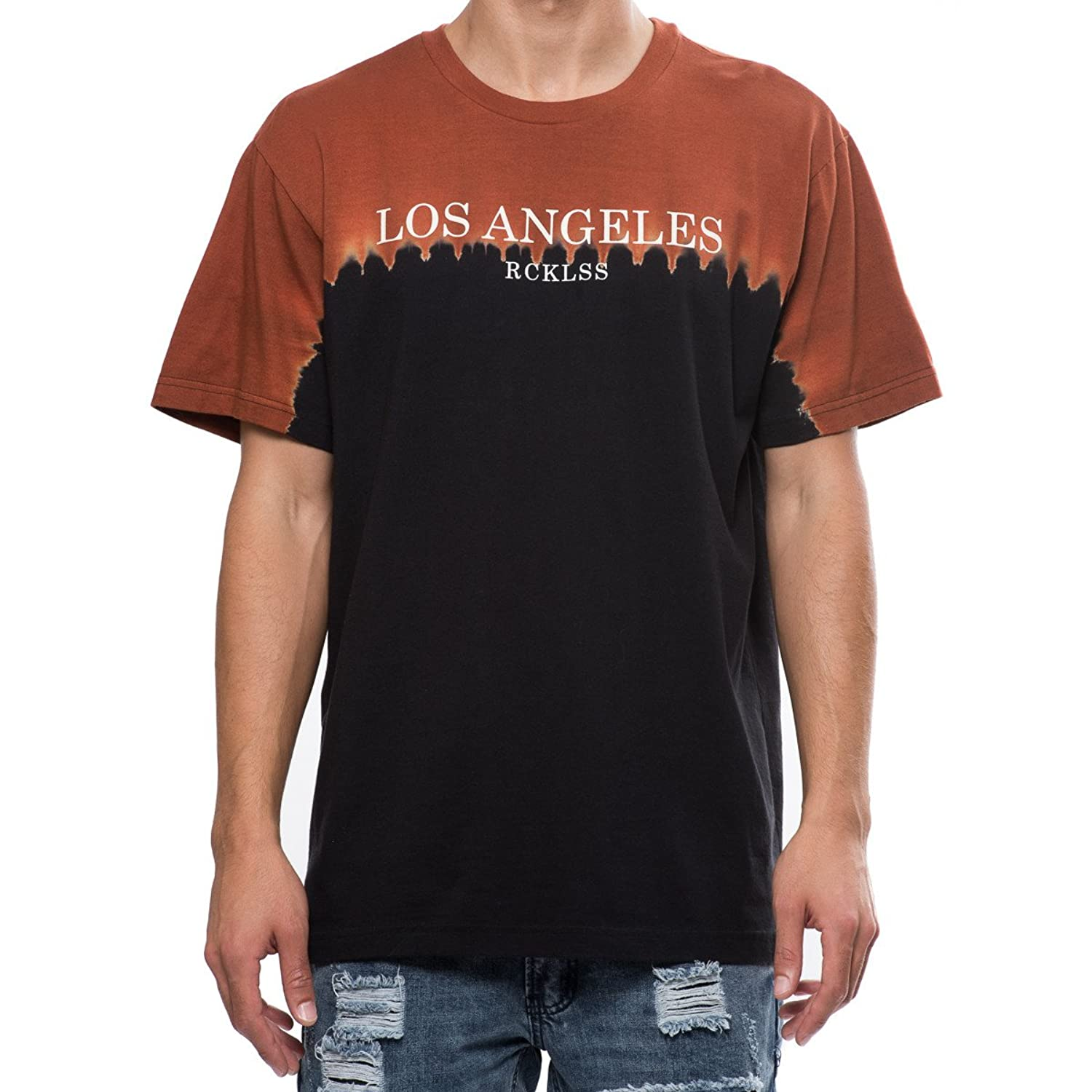 Young And Reckless - Deadline Tee - Dip Dye - - Tees - Graphic Tee