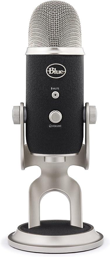 Blue Microphones Yeti Pro Professionelles Usb Und Xlr Mikrofon Schwarz Silber Musikinstrumente