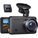 APEMAN 1440P&1080P Dual Dash Cam, 1520P max, Support 128GB, Front and Rear Camera for Cars with 3 Inch IPS Screen…